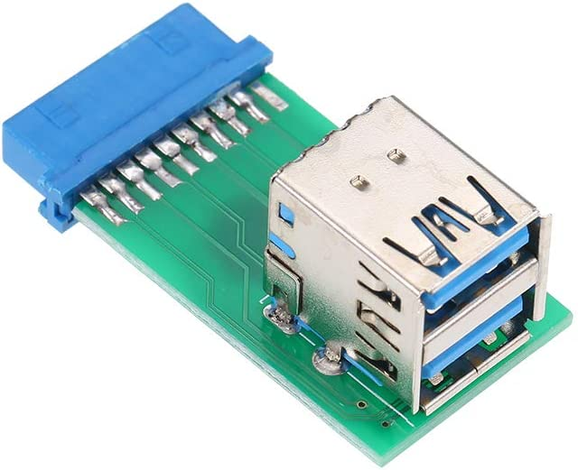 Festnight Adapter Card Type-A Female to Motherboard Converter Card Dual USB 3.0 Adapter Card 20Pin//19Pin Header