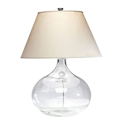 Amazon Com Ethan Allen Clear Glass Table Lamp Home Kitchen
