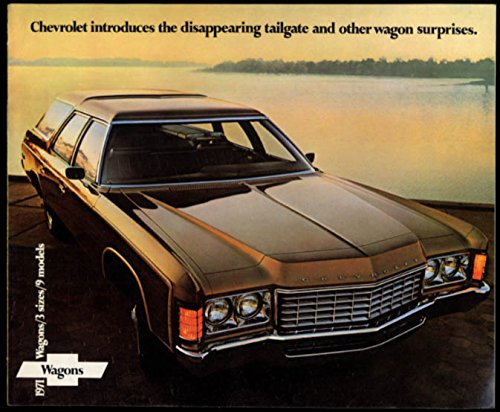 1971 Chevrolet Wagons brochure Kingswood Townsman Brookwood Concours Nomad