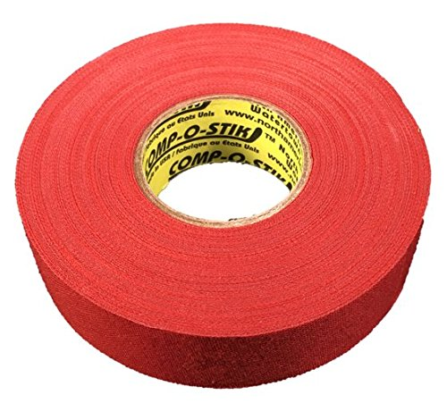 3 Rolls of Comp-O-Stik RED Hockey Lacrosse Bat Cloth Stick Tape ATHLETIC TAPE (3 Pack) Made In The U.S.A. 1'' X 27 yds