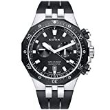 Edox Men's 'Delfin' Quartz Stainless Steel and Rubber Dress Watch, Color Black (Model: 10109 357NCA NIN)