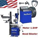 Mayflower - 1.5 HP Automatic Tire Changer Wheel Changers Machine Rim Balancer Combo 960 680 Bead Blaster / 1 Year Full Warranty