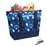 12 Gallon Insulated Blue Mega Tote Bag with Lobster Print – The Way to Transport Frozen Food, Perishables and Hot Food