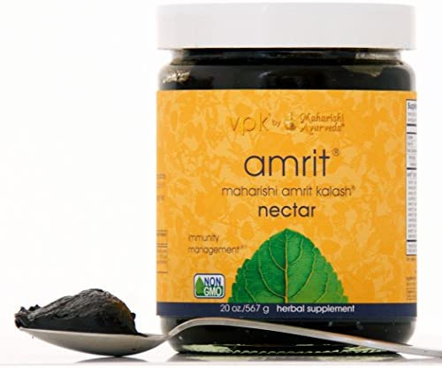Amrit Kalash Nectar Paste 20 oz. Full-Spectrum Natural Antioxidant Herbal Supplement Enhances Coordination of Mental Functions Proven Chemotoxicity Support