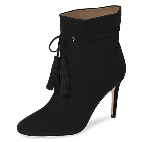 The Most Stylish Women's Lace Closed Toe Stiletto Heel High Heels