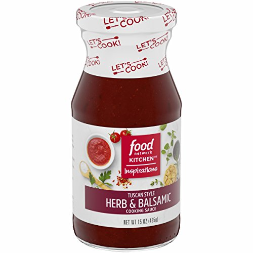 Food Network Kitchen Inspirations Tuscan Style Herb & Balsamic Cooking Sauce, 15 oz by Food Network