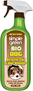 SIMPLE GREEN Bio Dog Active Stain & Odor Remover, Enzyme Cleaner & Stain Remover for Carpet, Rugs & Fabric Eliminates, Urine Odor