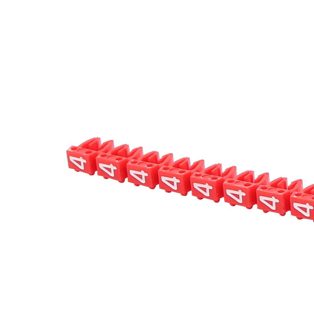 uxcell 20Pcs Letters4 inches Network Cable Labels Markers Red for 3.0-4.0mm Dia Wire