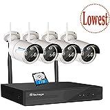 Techage 720P WIFI CCTV Camera System 4CH 1.0MP Wireless NVR + Waterproof IP Camera IR-CUT Night Vision Home Security Surveillance Kits With 1tb Hard Drive