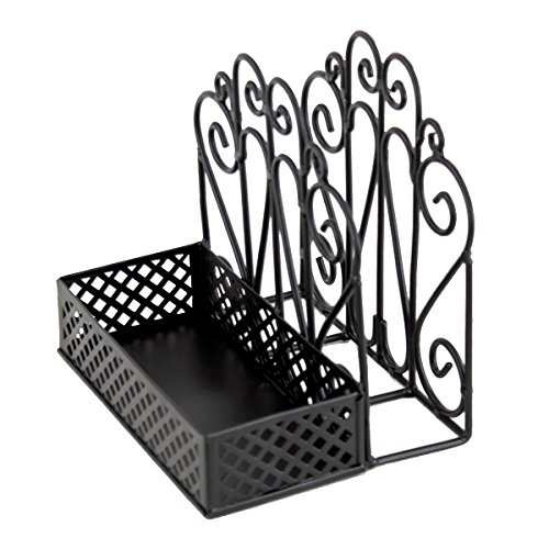 Wrought Iron Napkin Holder - Black Salt & Pepper Napkin Holder