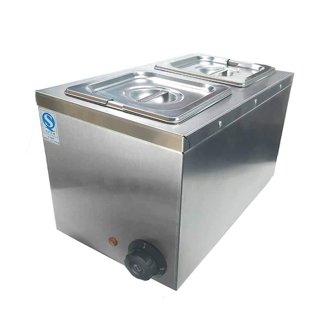 Li Bai Commercial Chocolate Melting Machine Electric Fountain Pot Liquid Warmer 300W 4L Capacity 2 Tanks for Chocolate Candy Butter Cheese Caramel Soup and More by Li Bai (Image #6)