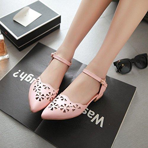 ZHZNVX Korean version of the baotou low-foot leg banding rough heel sandals
