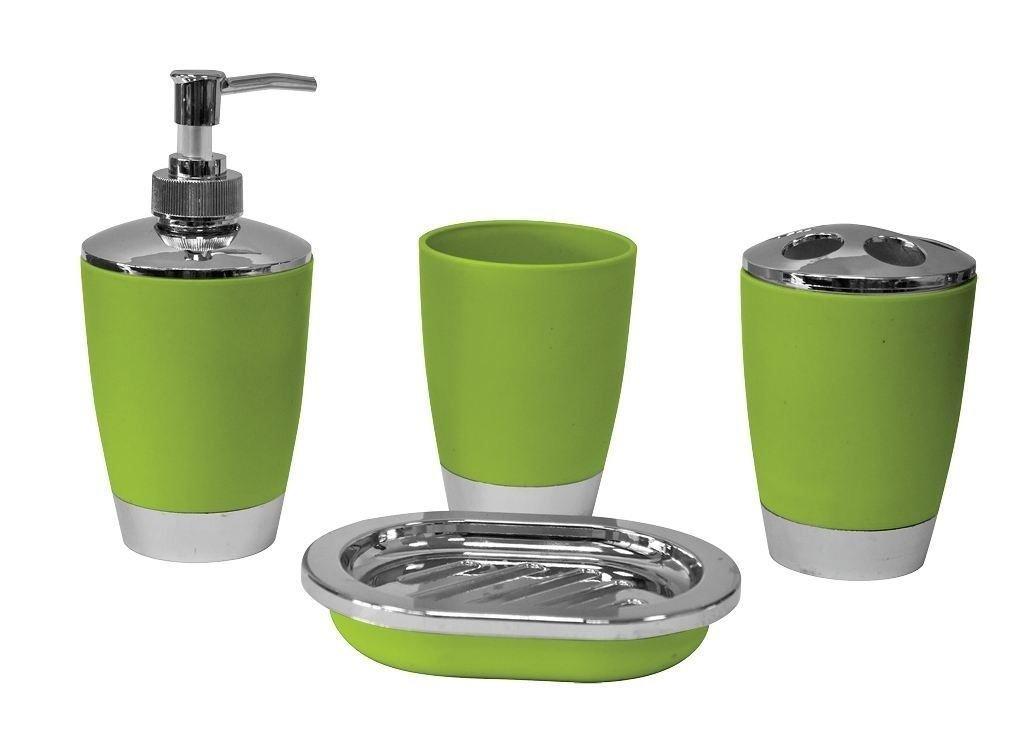 Set accessori da bagno piatto di sapone Dispenser Holder Spazzolino lusso Set 4 pezzi [nero] Shine Umbrella Ltd SHOM36145