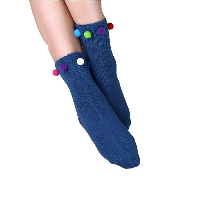 PreSox mujeres hechas a mano florales de cristal adjunto brillante metálico calcetines de la tripulación