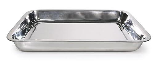 Bandeja Horno INOX 40,5x31,5x4,5 cm: Amazon.es: Hogar