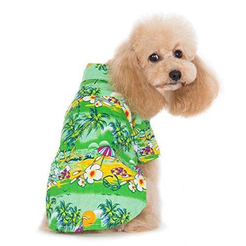 2XL Dogo Tropical Island Dog Shirt Green Extra Extra Large