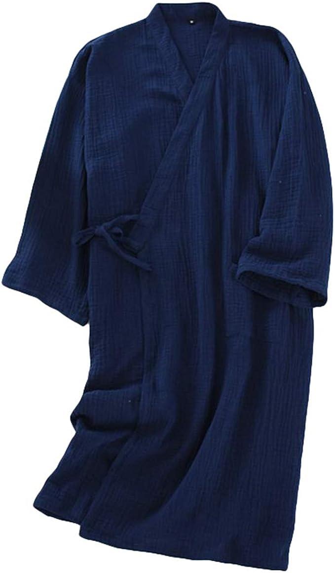 LaoZan Hombre Mujer Bata de Baño Kimono Ropa De Dormir Camisón Ligero Cordón Suelto Hotel Salón Ropa de Casa: Amazon.es: Ropa y accesorios
