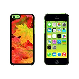 Fall Leaves Leaf Snap On Hard Protective Case for Apple iPhone 5C - Black