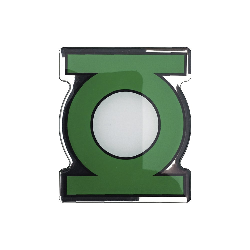 Trucks Motorcycles DC Comics Automotive Emblem Sticker Applies Easily to  Cars Fan Emblems Green Lantern Logo Car Decal Domed//Black//Green//White//Chrome Finish Almost Anything Cellphones Laptops