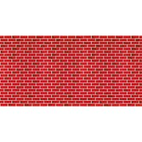 Fadeless Designs Bulletin Board Art Paper, 4-Feet by 50-Feet, Tu-Tone Brick (56475)