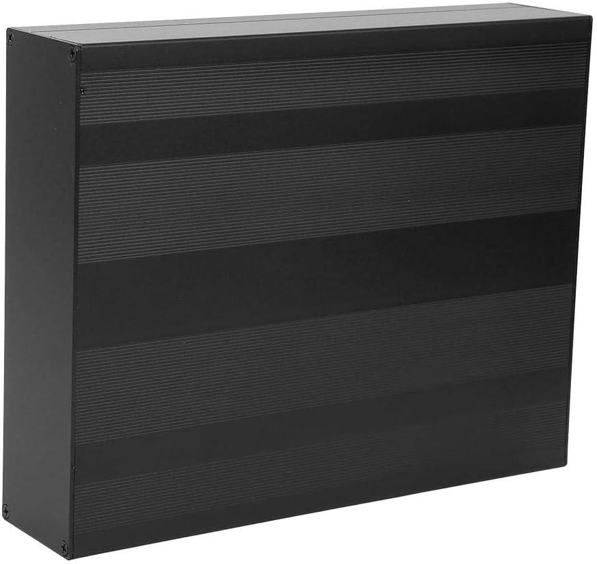 Carcasa de Productos Electr/ónicos DIY 50x178x220 mm Caja de Caja Negra Mate Caja de Proyecto de Aluminio Grosor de Caja de Aluminio 1.25-1.5 mm
