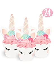 Unicorn Cupcake Toppers + Wrappers