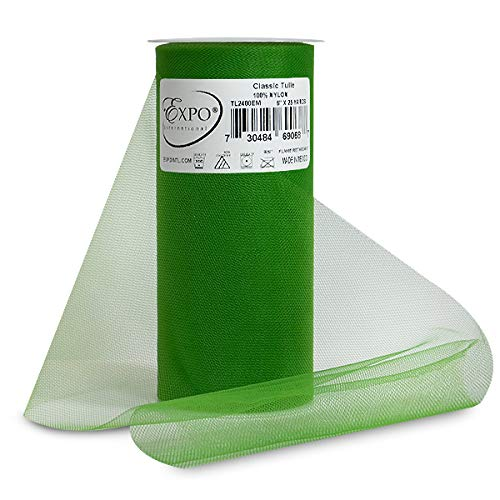 Expo Classic Tulle Spool of 25-Yard, Emerald]()