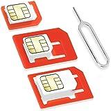 Wicked Chili 843072 - Kit de adaptador para tarjetas SIM (Nano, Micro, Estándar, eject PIN)