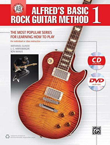 (Alfred's Basic Rock Guitar Method, Bk 1: The Most Popular Series for Learning How to Play, Book, CD & DVD (Alfred's Basic Guitar Library))