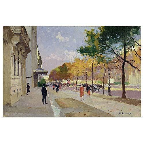 GREATBIGCANVAS Poster Print Entitled Avenue Montaigne, Paris by Jules (1863-1932) Renoux 18