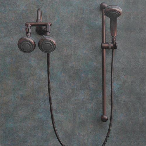 Polaris 2 Oil Rub Bronze Shower Heads (Oil Shower Adjustable Rub Bronze)