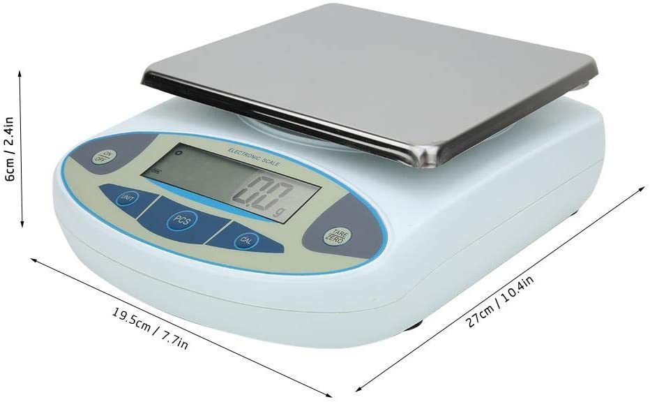 10000g x0.1g High Precision Weighing Scales for Laboratory Jewelry Gold Kitchen PBZYDU Lab Analytical Electronic Balance US