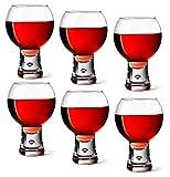 Cheap Durobor Short Stem Bubble Base Red Wine Glasses 19 fl oz / 540 ml, Set of 6