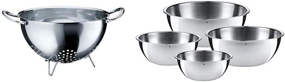 0645709990 Set 4 Ciotole da Cucina in Acciaio Inox 18//10 Cromargan WMF Scolapasta Acciaio Inossidabile 24 cm