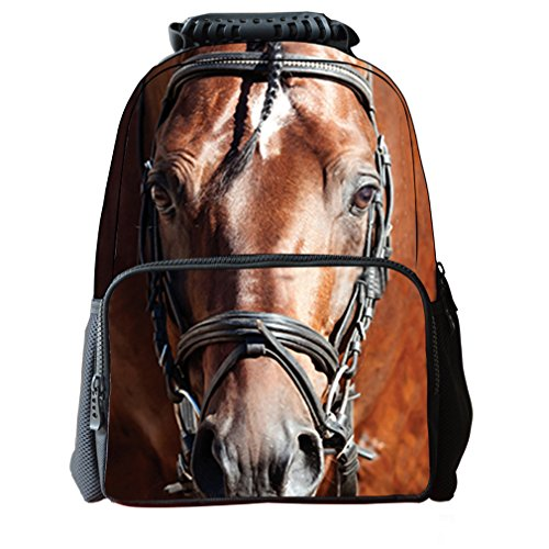 [3D Print Animal School Bookbag Backpack for kids,Laptop Bags for Boys and Girls Horse Design] (College Girls In Costumes)
