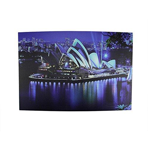 LED Lighted Famous Sydney Opera House Australia Canvas Wall Art 15.75