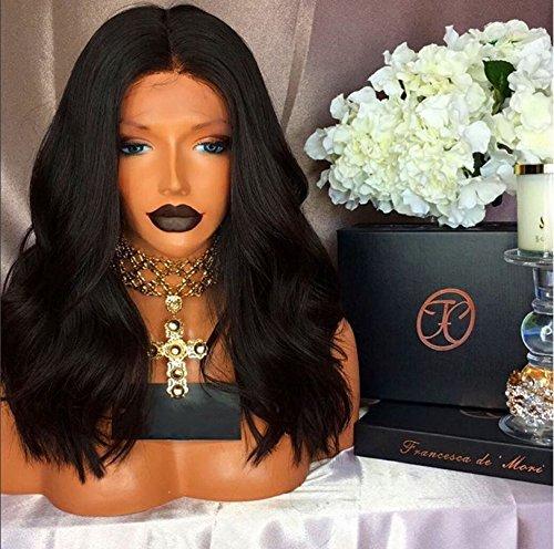 [Brazilian Body Wave Glueless Full Lace Human Hair Wigs Lace Front Wigs For Black Women Full Lace Wigs Baby Hair (14 Inch Lace Front] (Wild Curl Black Wig)