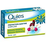 Quies Pair of Protection Auditive Silicon Earplugs - Pack of 3