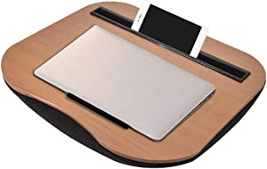 Multifunctional Lap Desk Portable Laptop Table with Laptop Storage Compartment - Pillow Cushioned Laptop Accessories Book Stand - Great for Bed Couch Table Sofa Chair - Food Serving Tray