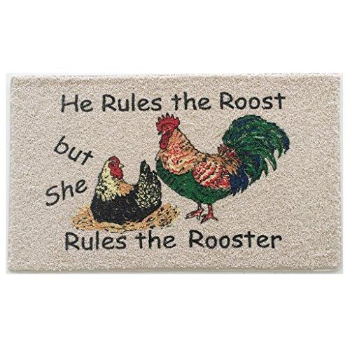 (Home & More 151021827 Rooster Motif Indoor Mat, 18
