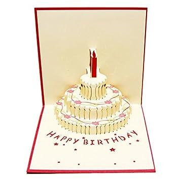 TOOGOO (R) 3D Handmade Custom Geburtstag, Einladungen Karten Wishes ...
