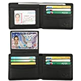 Kyпить Wallet for Men-Genuine Leather RFID Blocking Bifold Stylish Wallet With 2 ID Window (Vintage Black) на Amazon.com