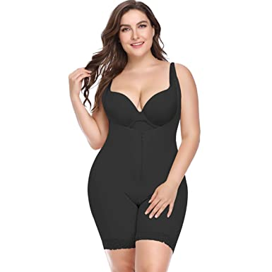 382f53459f6c2 Topmelon Firm Control Spandex Bodysuit Shapewear Plus Size Seamless Full  Body Shaper at Amazon Women s Clothing store