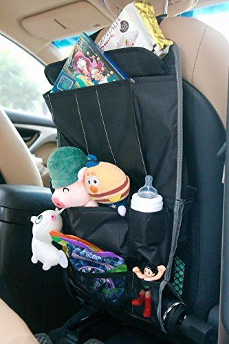 Sale!! Spaco Multipurpose Backseat Organizer + Kids/Baby Travel Storage + Kick Mat Protectors+iPad a...