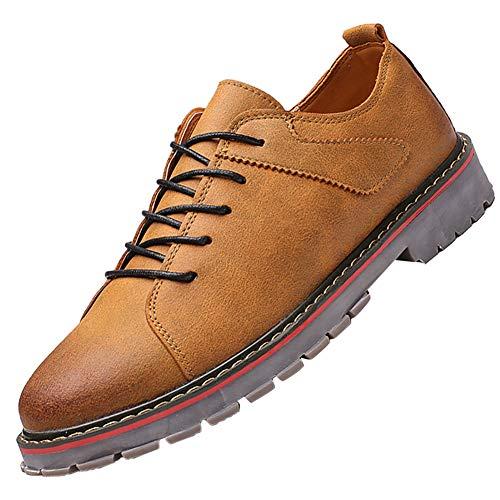 KUIBU Men's Low-Cut Work Boots Lace up Anti-Slip Waterproof Hiking Martin Boots Dress Casual Oxford Shoes ()