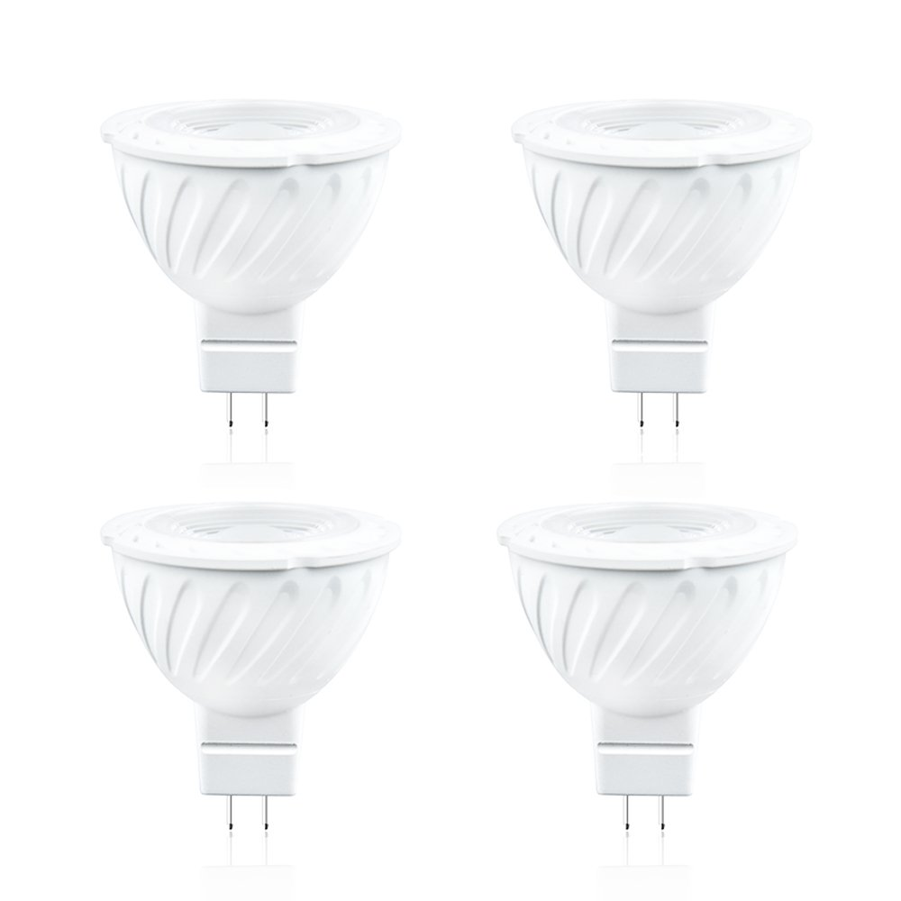Luxvista MR16 LED Bulb 12V Daylight 6000K 7W GU5.3 Base Spotlight 60W Halogen Bulbs Replacement for Track Lighting Recessed Ceiling Lights Pendant Fixtures 4-Pack