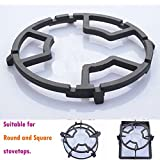 iron wok ring - TAMUME Universal Black Cast Iron Wok Support Ring Stove Trivets for Kitchen and Camping, Stove Rack, Moka Pot Holder for Gas Hob