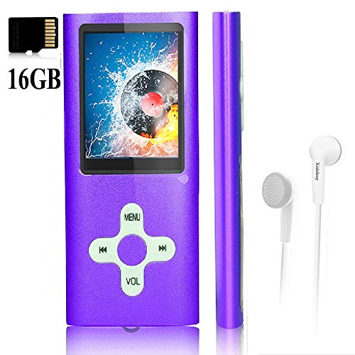 "MP3 Player/Music Player,with a 16 GB Memory Card Portable Digital Music Player/Video/Voice Record/FM Radio/E-Book Reader,Ultra Slim 1.8""Screen"
