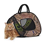 SportPet Designs Cat Carrier With Zipper Lock- Foldable Travel Cat Carrier - Pet Pen