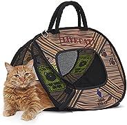 Portador de gatos SportPet Designs com fecho de zíper - Bolsa dobrável para viagem - Caneta para animais de es